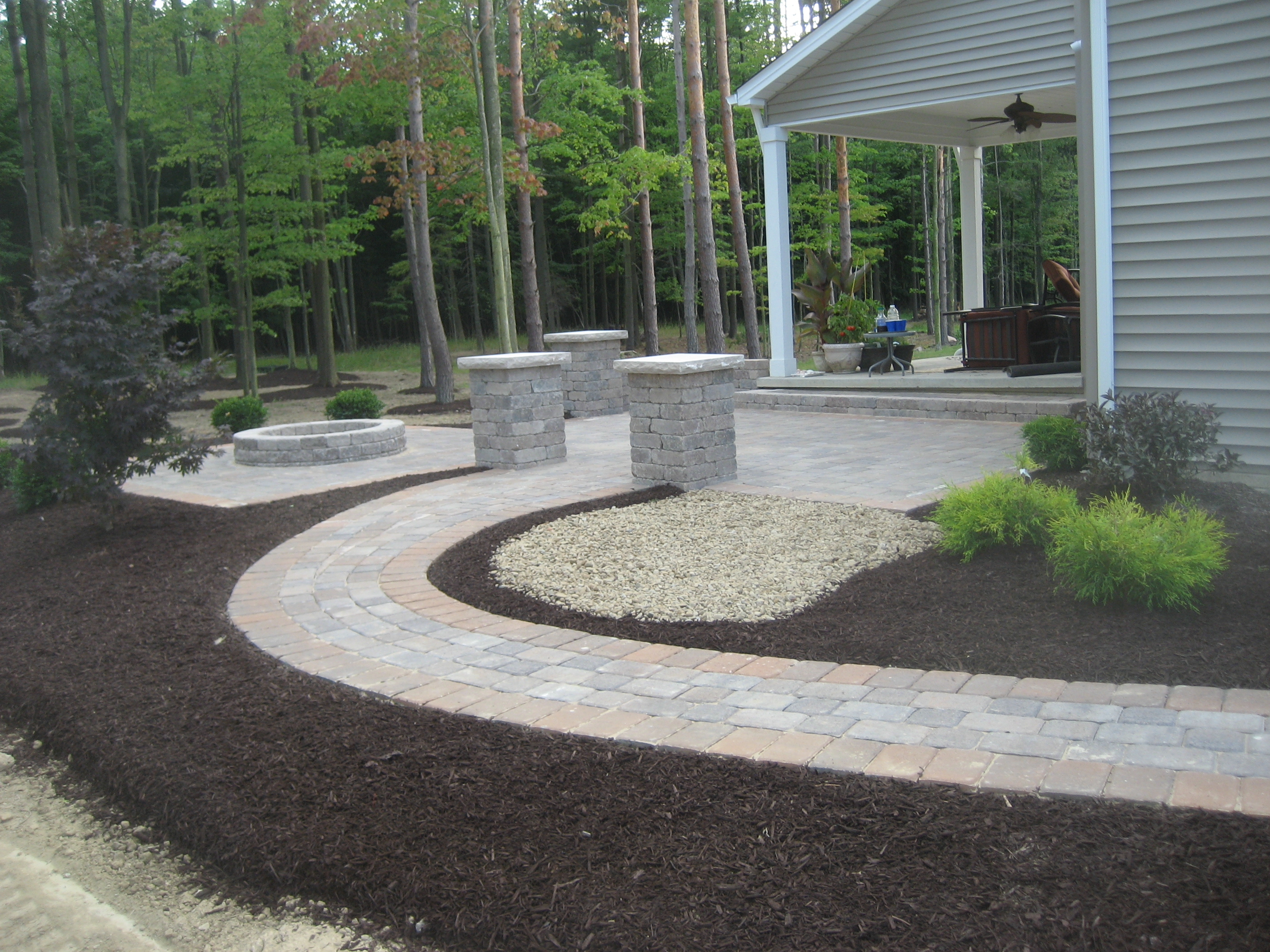 Patio Walkway with Camelot Pavers
