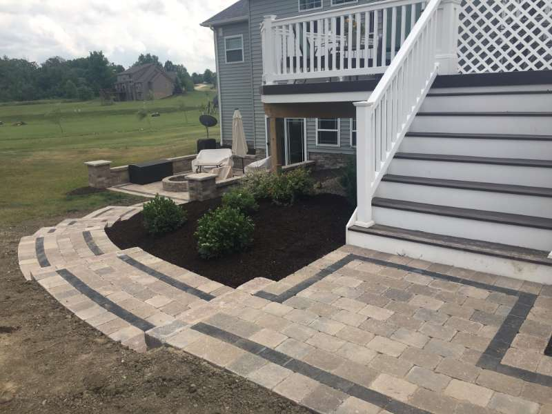 Patio Walkway with Brussel Pavers