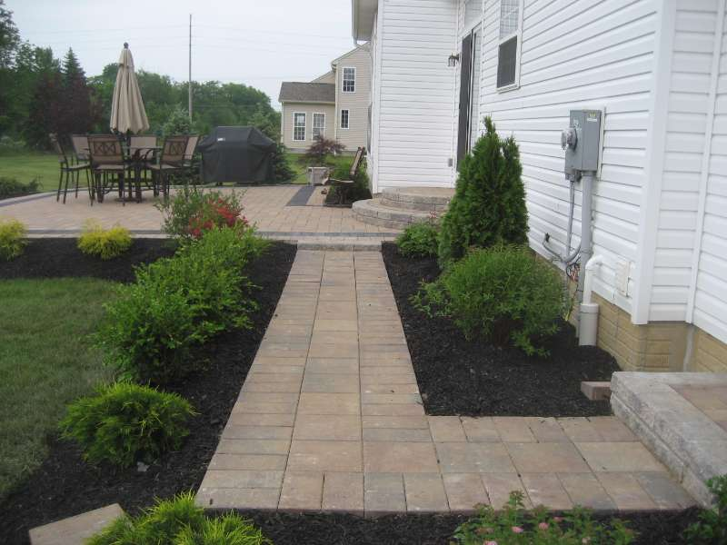 Patio Walkway with Pavers