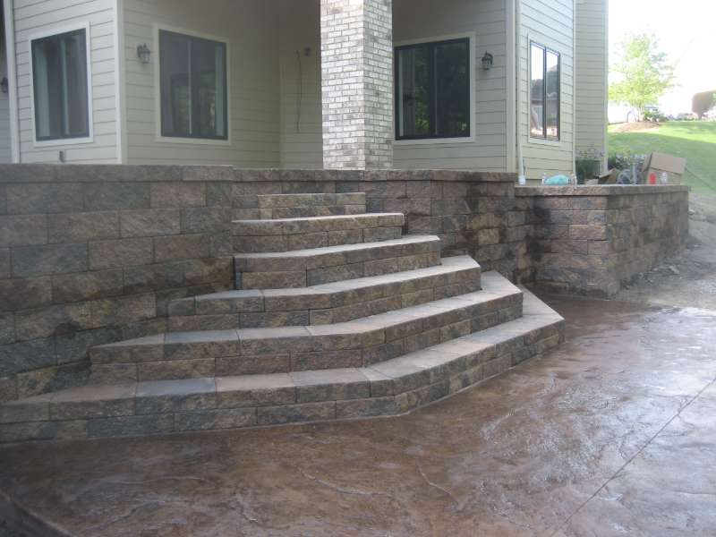 Patio Steps with Unilock
